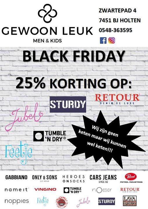 BLACK FRIDAY bij Gewoon Leuk!   VRIJDAG 24 NOVEMBER 2017  25% KORTING OP:  - RE...