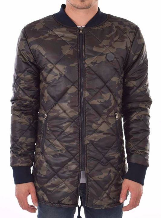 GABBIANO - REVERSIBLE LONG BOMBERJACKET FOR MEN  € 79,95 P.S.  Maat S t/m XXL