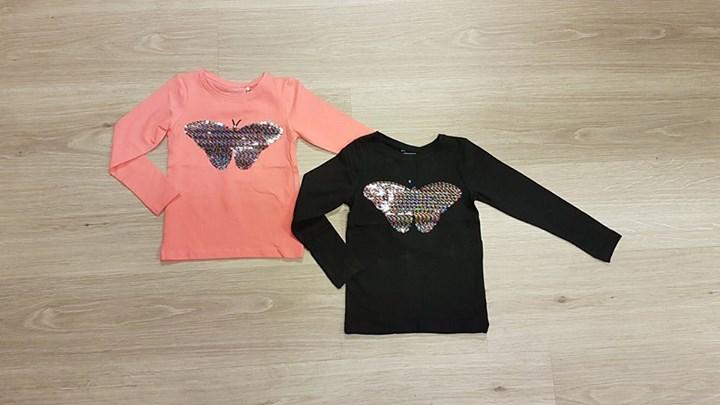 NET BINNEN! Flip-over Name-it shirts voor de meiden!   Maat 104 t/m 146-152  € 1...