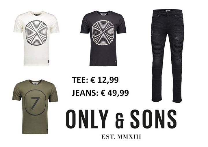 NEW!!  ONLY & SONS FOR MEN