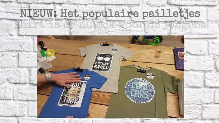 NIEUW: Het populaire pailletjes shirt is er nu ook voor de jongens!   Maat 104 t...