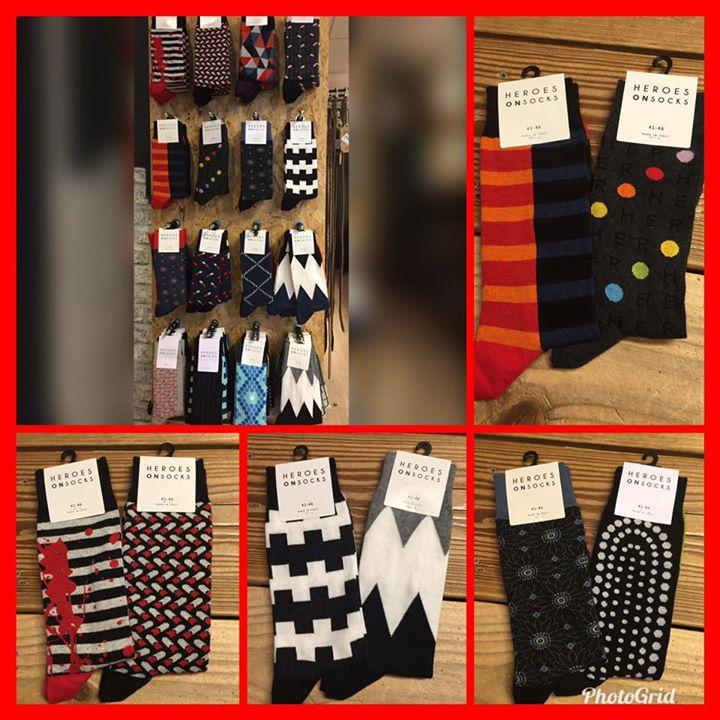 Nog op zoek naar een kleurrijk, eigentijds cadeau voor de Kerst.....  Design sok...