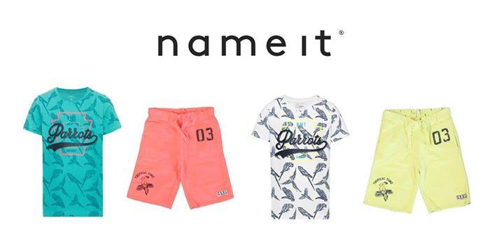 Stoere set van Name-it voor de boys!  T-shirt € 12,99 Shorts € 21,99