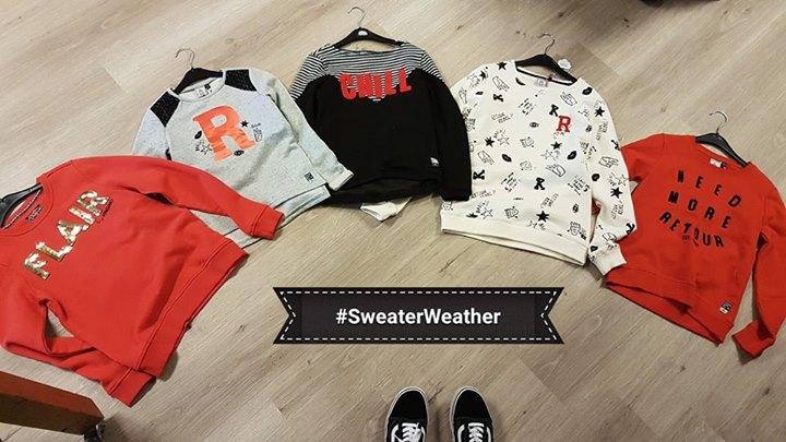 Sweater weather!  Lekkere sweats voor de meiden!