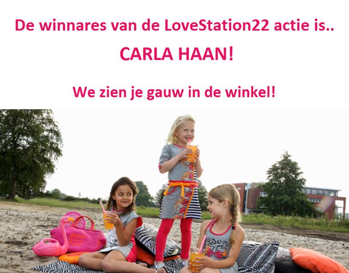 Wij willen iedereen bedanken voor alle leuke reacties!  De winnares van de LoveS...