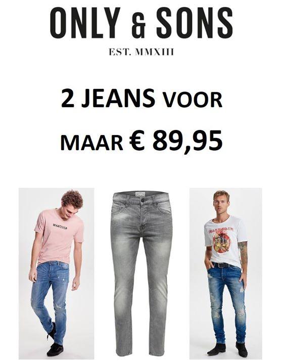 ⭐ Nieuw jaar, nieuwe broeken! ⭐  2 ONLY & SONS JEANS VOOR MAAR € 89,95!  Heren, ...