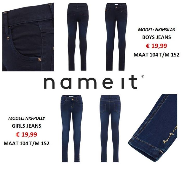 NAME-IT JEANS VOOR DE BOYS & GIRLS!  Maat 104 t/m 152!  Voor maar..... € 19,99!!...