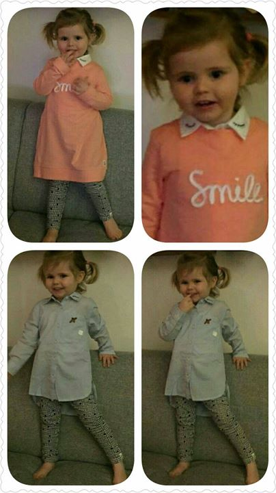 Lieve Lynn in haar nieuwe kleertjes!