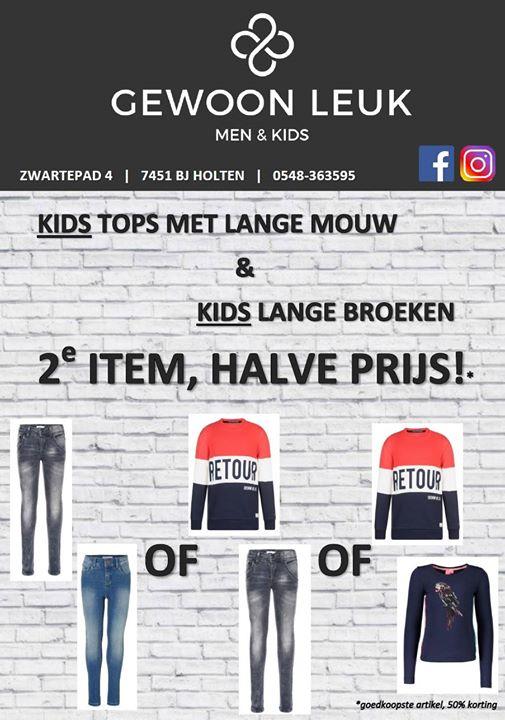 ⭐ DEZE WEEK: ⭐  ️ KIDS; tops met lange mouw & lange broeken, 2e item, halve prij...